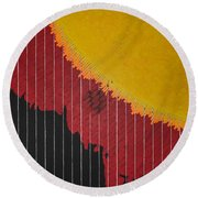 Anomaly At The Sun Round Beach Towel