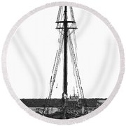 Anomaly Ship Poster Round Beach Towel