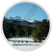 Another Beautiful Day In Rocky Mountain National Park - 0612 Round Beach Towel