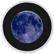 Another Blue Moon Round Beach Towel