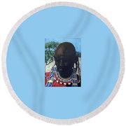 Another Cloudless Day Round Beach Towel