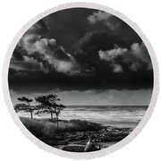 Round Beach Towel featuring the photograph Another Day At Kalaloch Beach by Dan Mihai