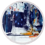 Another Day In New York City Round Beach Towel