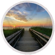 Another Day On The Beach Round Beach Towel