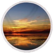 Round Beach Towel featuring the photograph Another Day by Thierry Bouriat
