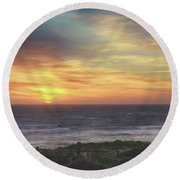 Another Goodbye Round Beach Towel by Laurie Search