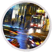 Round Beach Towel featuring the photograph Another Manic Monday by LemonArt Photography