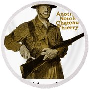 Another Notch Chateau Thierry -- Us Marines Round Beach Towel