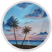 Another Paradise Sunset Round Beach Towel