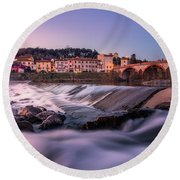 Another Point Of View Round Beach Towel