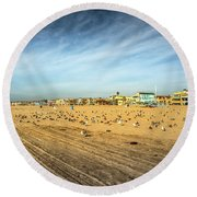 Another Seagull Afternoon Round Beach Towel