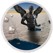 Another Side Of Dream Round Beach Towel