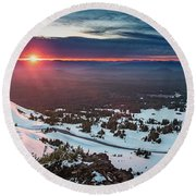 Round Beach Towel featuring the photograph Another Sunset At Crater Lake by William Lee