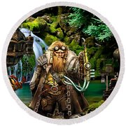 Another Time Collection Round Beach Towel