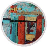 Another Time Round Beach Towel