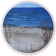 Another View Of East Point Beach Round Beach Towel