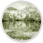 Round Beach Towel featuring the photograph Another World by Alex Grichenko