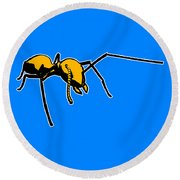 Ant Graphic  Round Beach Towel by Pixel  Chimp