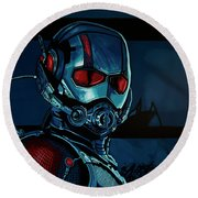 Ant Man Painting Round Beach Towel