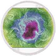 Antarctica Abstract Round Beach Towel