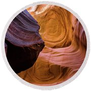 Antelope Canyon 12 Round Beach Towel