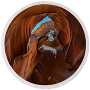 Round Beach Towel featuring the photograph Antelope Canyon 16 by Phil Abrams