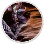 Antelope Canyon 8 Round Beach Towel