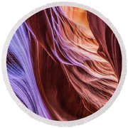 Antelope Canyon Air Glow Round Beach Towel