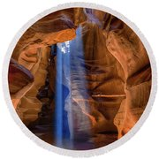 Antelope Canyon Blues Round Beach Towel