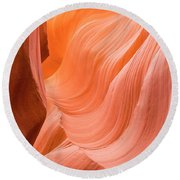 Antelope Canyon  Round Beach Towel