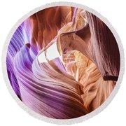 Antelope Canyon Page Arizona   Round Beach Towel