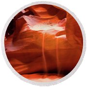 Antelope Canyon - The Falls Round Beach Towel