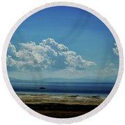 Antelope Island, Utah Round Beach Towel by Cynthia Powell