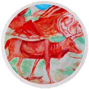 Antelope Save Round Beach Towel