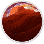 Round Beach Towel featuring the photograph Antelope View by Jonathan Davison