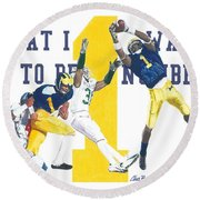 Anthony Carter And Braylon Edwards, #1 Round Beach Towel