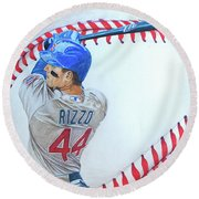 Anthony Rizzo 2016 Round Beach Towel