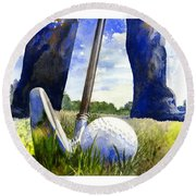 Anticipation Round Beach Towel