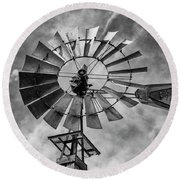 Round Beach Towel featuring the photograph Anticipation by Stephen Stookey