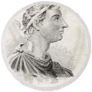 Antiochus I Soter C324   261 Bc King Of Round Beach Towel