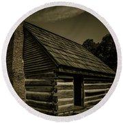 Antique Cabin - The Hermitage Round Beach Towel