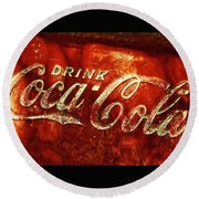 Antique Coca-cola Cooler II Round Beach Towel