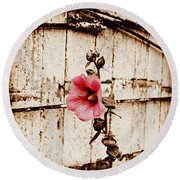 Antique Flower Round Beach Towel