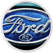 Antique Ford Badge Round Beach Towel