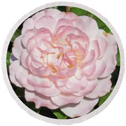 Antique Pink Rose Round Beach Towel