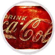 Antique Soda Cooler 2a Round Beach Towel by Stephen Anderson