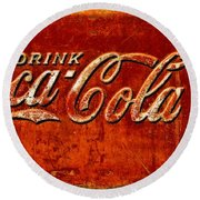 Antique Soda Cooler 3 Round Beach Towel by Stephen Anderson