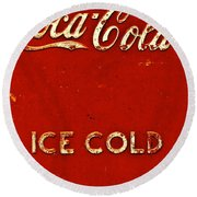 Antique Soda Cooler 6 Round Beach Towel by Stephen Anderson