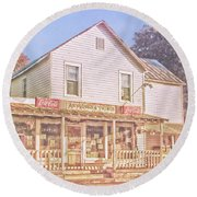 Antique Store, Colonial Beach Virginia Round Beach Towel