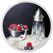 Antique Sugar Shaker Round Beach Towel by Brenda Brown